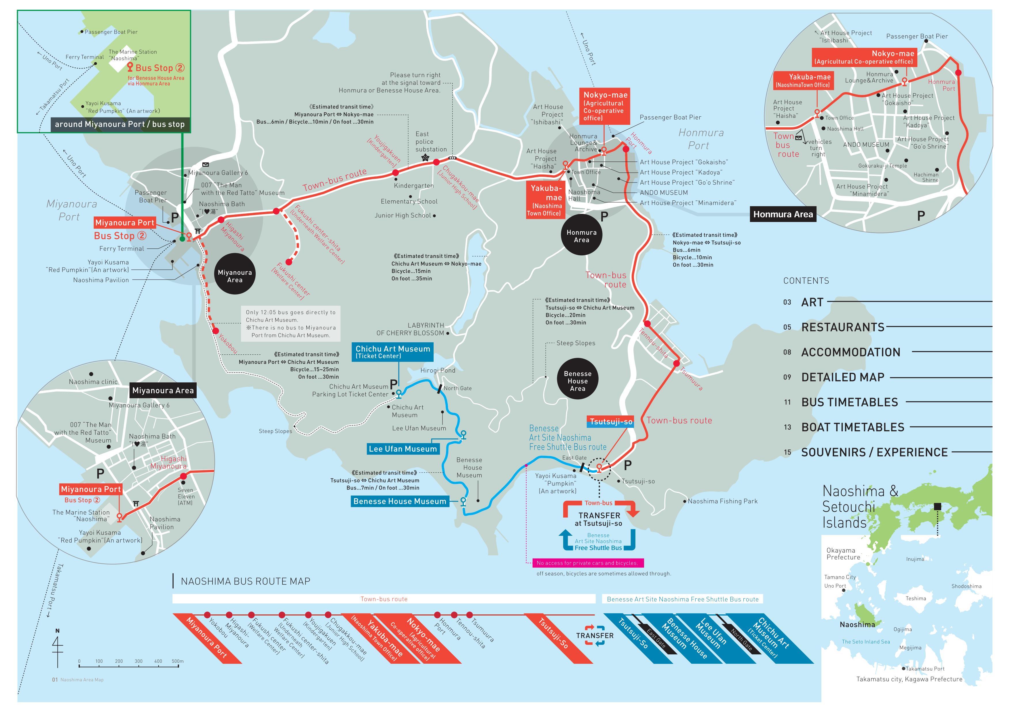 Naoshima Travel Information Site TownNaoshima Tourism - Japan map naoshima